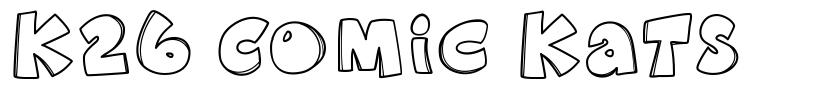 K26 Comic Kats шрифт