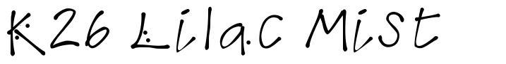 K26 Lilac Mist font