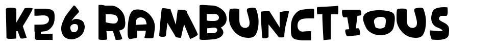 K26 Rambunctious font