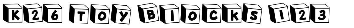 K26 Toy Blocks 123 font