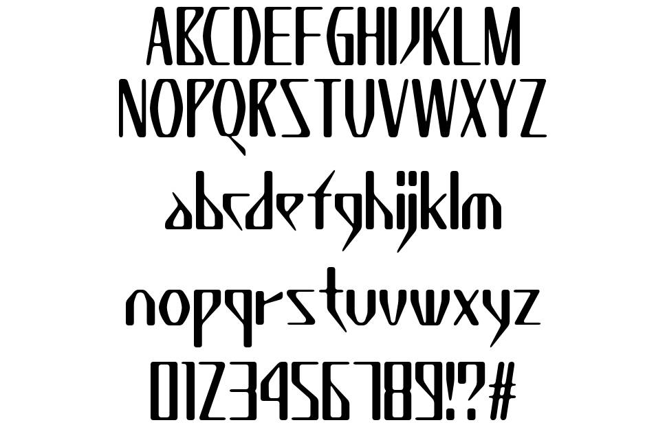 K7 Wednesday font