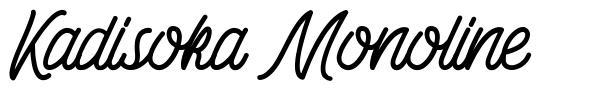 Kadisoka Monoline font