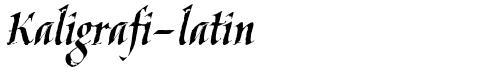 Kaligrafi-latin