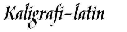 Kaligrafi-latin font
