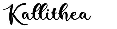 Kallithea font