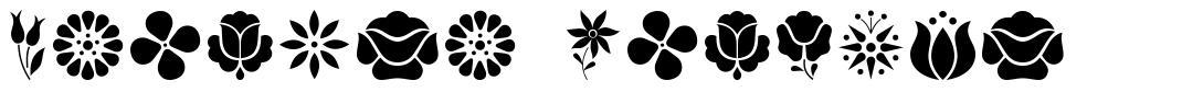 Kalocsa Flowers font
