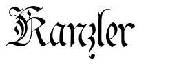 Kanzler шрифт