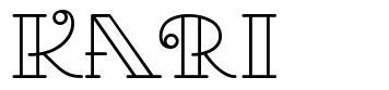 Kari font