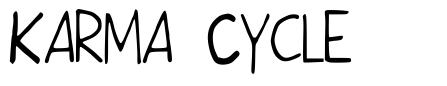 Karma Cycle font