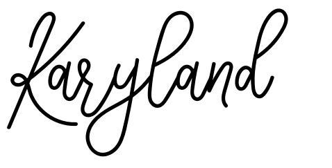 Karyland шрифт
