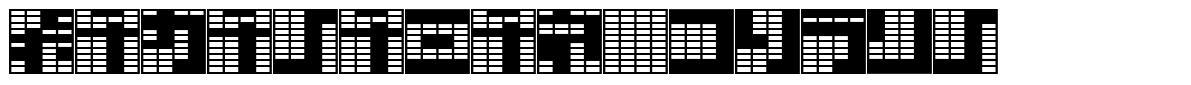 Katakana, block font