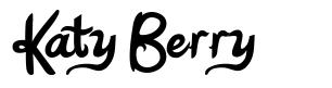 Katy Berry 字形