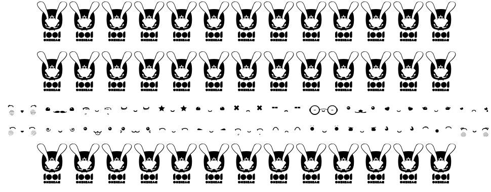 Kawaii eyes font