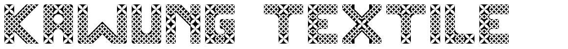 Kawung Textile font