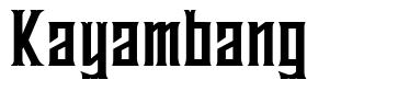 Kayambang font