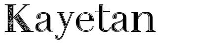 Kayetan font