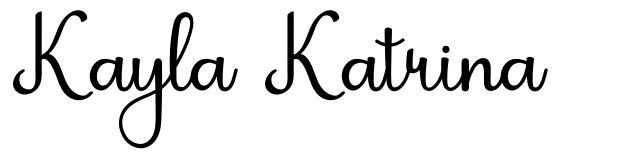 Kayla Katrina フォント