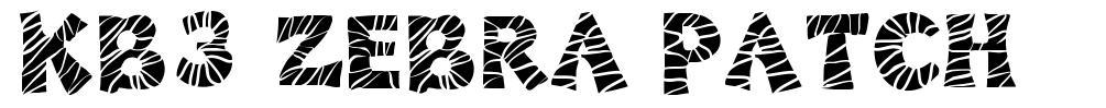 KB3 Zebra Patch font