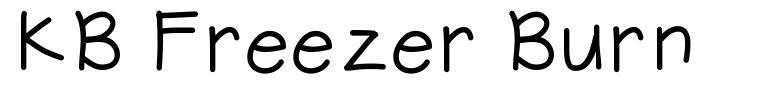 KB Freezer Burn font