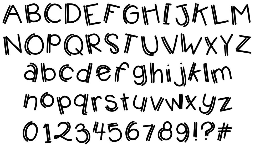 KB Jumping Jelly beans font
