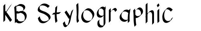 KB Stylographic font