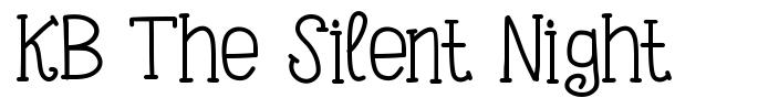 KB The Silent Night font