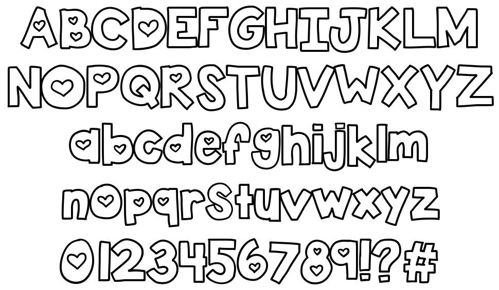 KB Two Lovers font