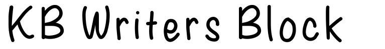 KB Writers Block font