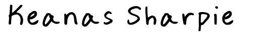 Keanas Sharpie font
