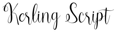 Kerling Script font