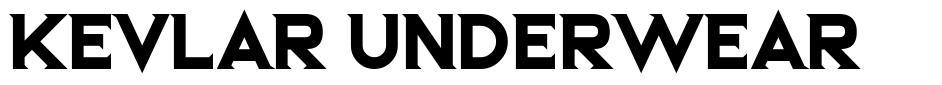 Kevlar Underwear шрифт