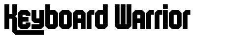 Keyboard Warrior font
