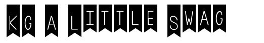 KG A Little Swag font