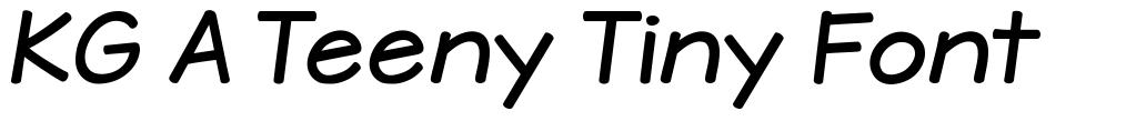 KG A Teeny Tiny Font font
