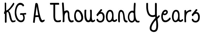 KG A Thousand Years font