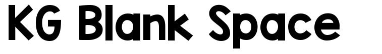 KG Blank Space font