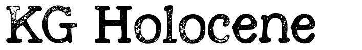 KG Holocene font