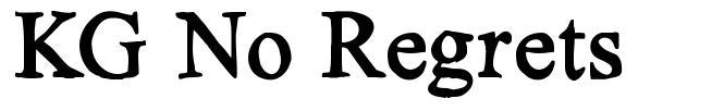 KG No Regrets font