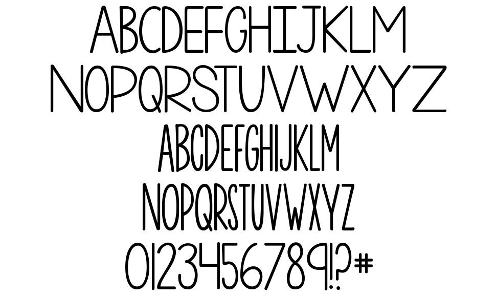 KG One More Night font