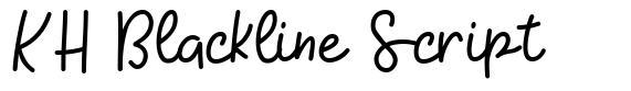KH Blackline Script czcionkę