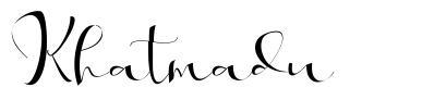 Khatmadu font