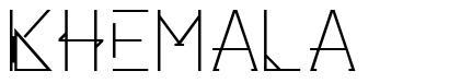 Khemala font