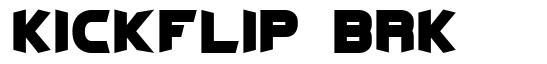 Kickflip BRK font