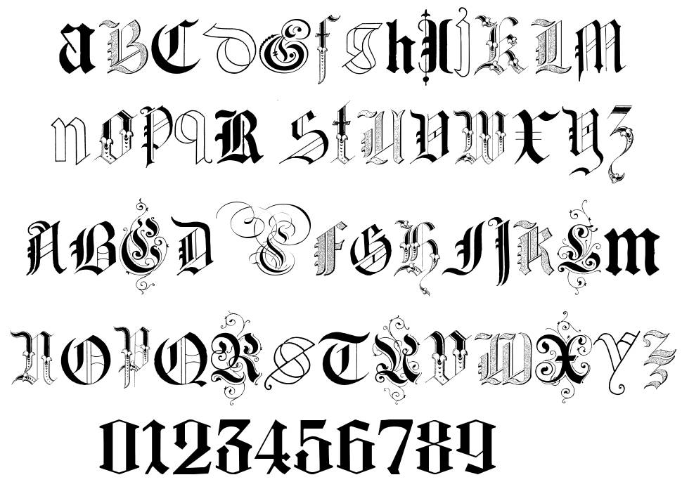 Kidnapped at German Lands Two font