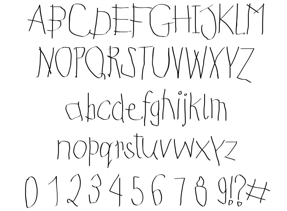 Kids First Print Font font
