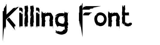 Killing Font