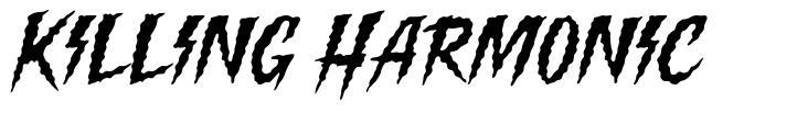 Killing Harmonic písmo