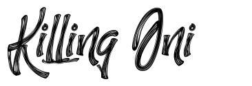 Killing Oni font