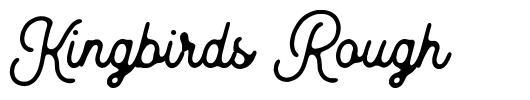 Kingbirds Rough font