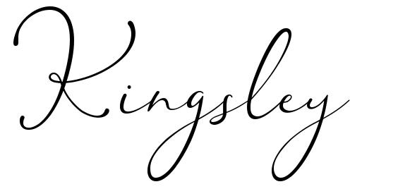 Kingsley шрифт